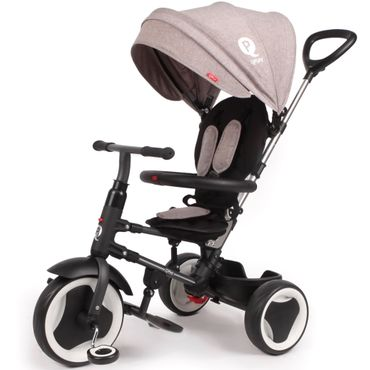 Qualitäts Dreirad 10-36 Monate Kinderdreirad mit Lenkstange Rito Deluxe Grau 862