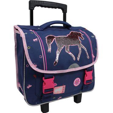 Schulranzen Mädchen Kinder Trolley Schultrolley Koffer Schultasche Einhorn Pferd
