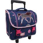 Schulranzen Mädchen Kinder Trolley Schultrolley Koffer Schultasche Einhorn Pferd 001
