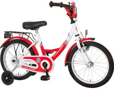 FC Bayern München Kinderfahrrad 16 Zoll Fahrrad Kinder Fanartikel Kinderrad Rot
