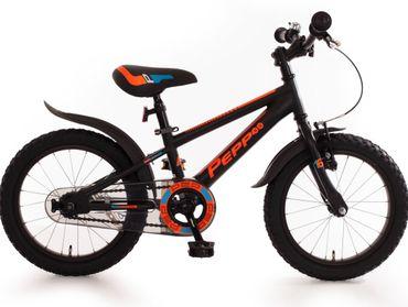 Kinderfahrrad 16 Zoll Jungen Fahrrad für Kinder ab 4 Jahre Mountainbike schwarz
