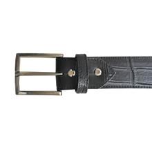 KIAN Kroko-Gürtel Schwarz 4 cm