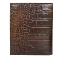 LEON Börse hoch Alligator dark brown