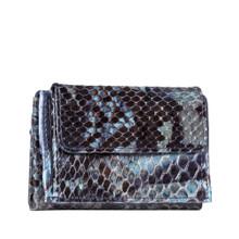 """Foto: LEILA Minibörse Python Jeansblau, Luxuriöse Minibörse aus feinem, echtem Pythonleder. Tragen Sie die Börse einfach in der Jeans oder in einer schönen Clutch. Ein Schmuckstück für jeden Anlass.  """"Handmade in Germany"""""""