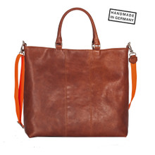 CHARLY Shopper Rindleder Cognac