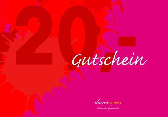 Gutschein Farbklecks Rot 20,00 EUR