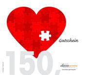 """Foto: Gutschein """"Herz"""" 150,00 EUR,"""