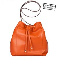 EMMA Schultertasche / Beutel R'Leder Orange Rust