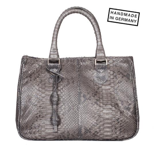MAGNA Armreif in Python Pure Grey 5 cm