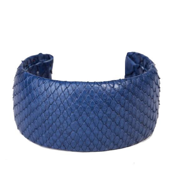 LEILA Minibörse Python Jeansblau