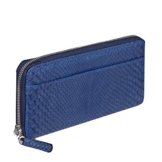 MAGNA Armreif in Python Jeansblau 3,7 cm, größer