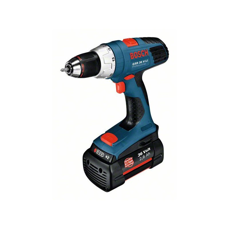 BOSCH - Perceuse-visseuse sans fil GSR 36 V-LI + 2 batteries 2.6 Ah