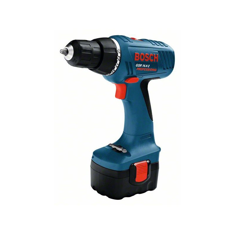 BOSCH GSR 14,4-2:   Perceuse-visseuse sans fil GSR 14,4-2 + 2 batteries 1.5 Ah