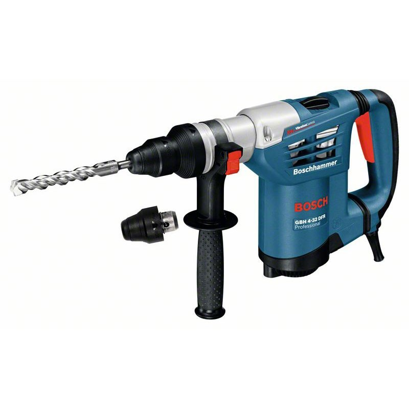 BOSCH GBH 4-32 DFR:   Perforateur SDS-plus GBH 4-32 DFR SET - Mandrin automatique 13 mm + Butee de profondeur 310 mm + Poignee supplementai