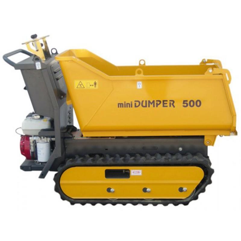 Transporteur Dumper sur chenilles DUMPY 500 - Honda GX160 - 500 kg - Basculement hydraulique