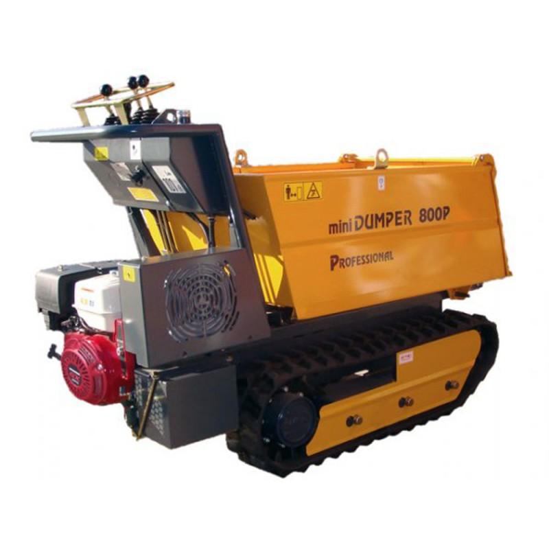 Transporteur Dumper sur chenilles DUMPY 800P - Honda GX390 - 800 kg - Basculement hydraulique