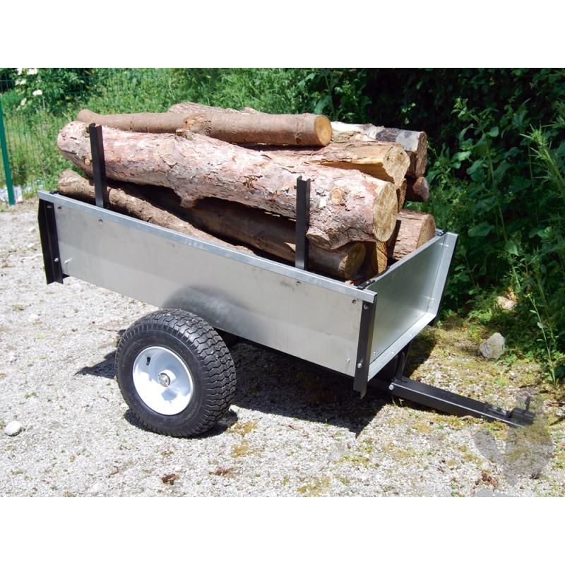 TURFMASTER-Remorque basculante en acier galvanisé spécial bois-GAL450