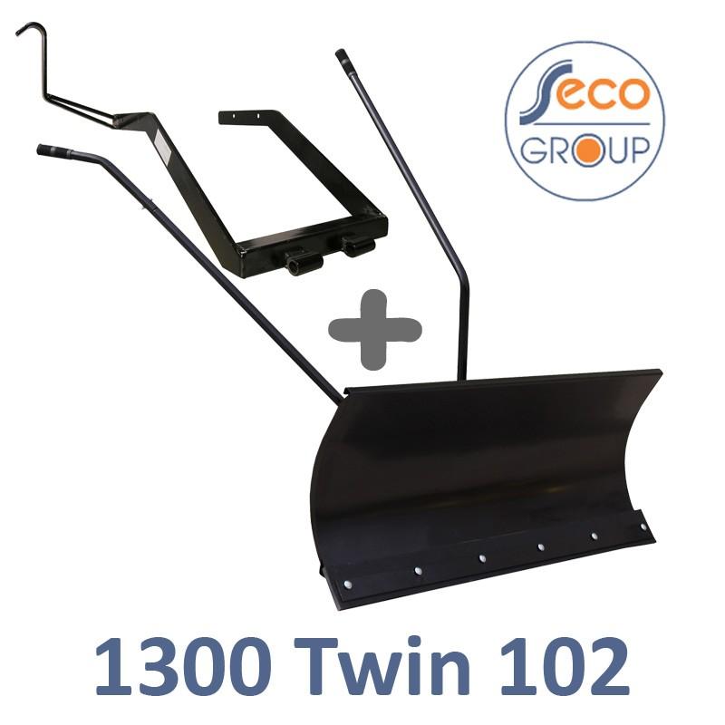 Lame à Neige 118 cm Noire + adaptateur pour SECO-AGS 1300 Twin102