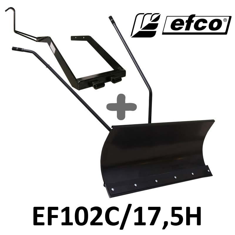 Lame à Neige 118 cm Noire + adaptateur pour EFCO EF102C/17,5H