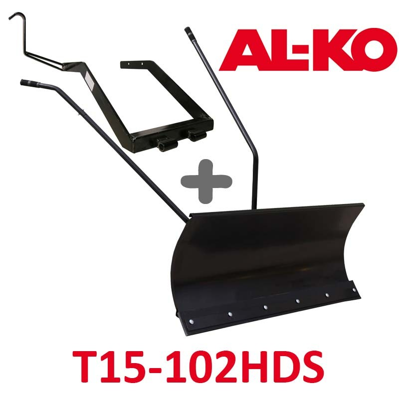 Lame à Neige 118 cm Noire + adaptateur pour ALKO T15-102 HDS