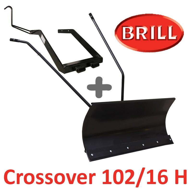 Lame à Neige 118 cm Noire + adaptateur pour BRILL Crossover 102/16 H
