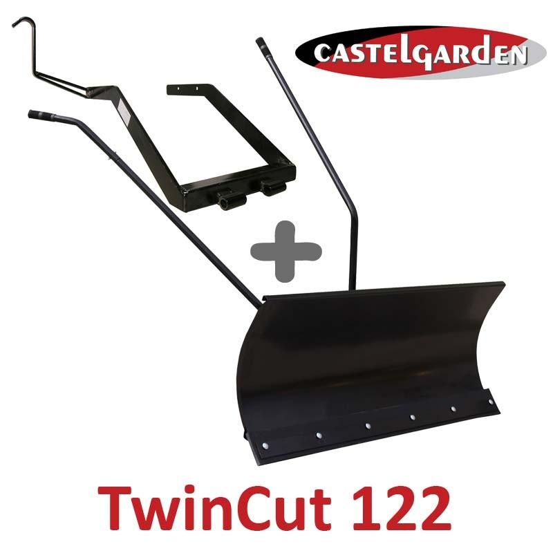 Lame à Neige 118 cm Noire + adaptateur pour Castelgarden Twincut 122
