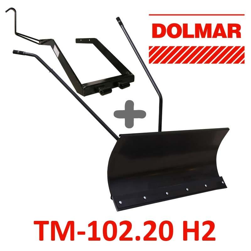 Lame à Neige 118 cm Noire + adaptateur pour Dolmar TM-102.20 H2