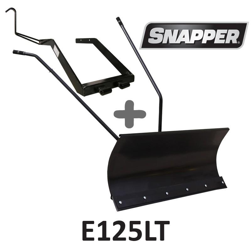 Lame à Neige 118 cm Noire + adaptateur pour Snapper E125LT
