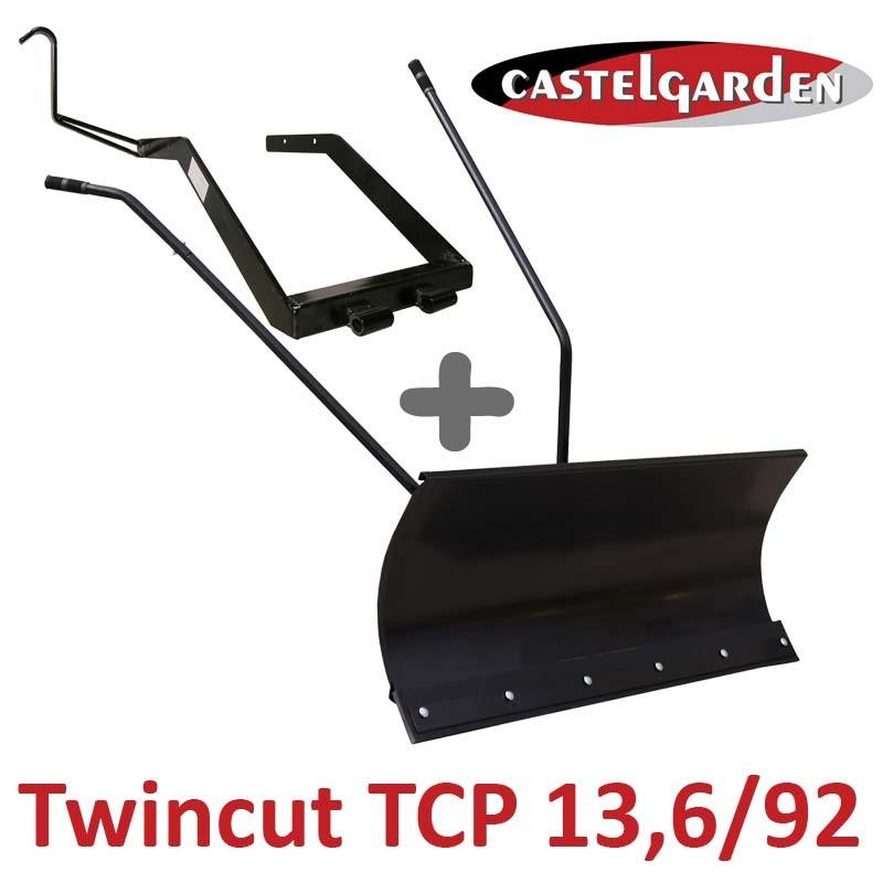 Lame à Neige 118 cm Noire + adaptateur pour Castelgarden Twincut TCP 13,6/92