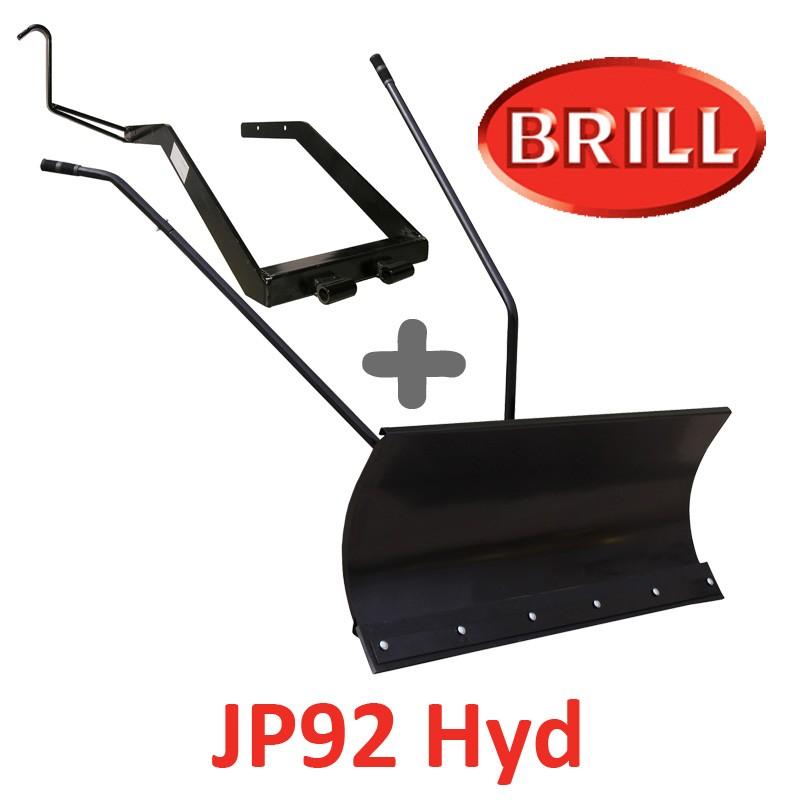 Lame à Neige 118 cm Noire + adaptateur pour BRILL JP92 Hyd