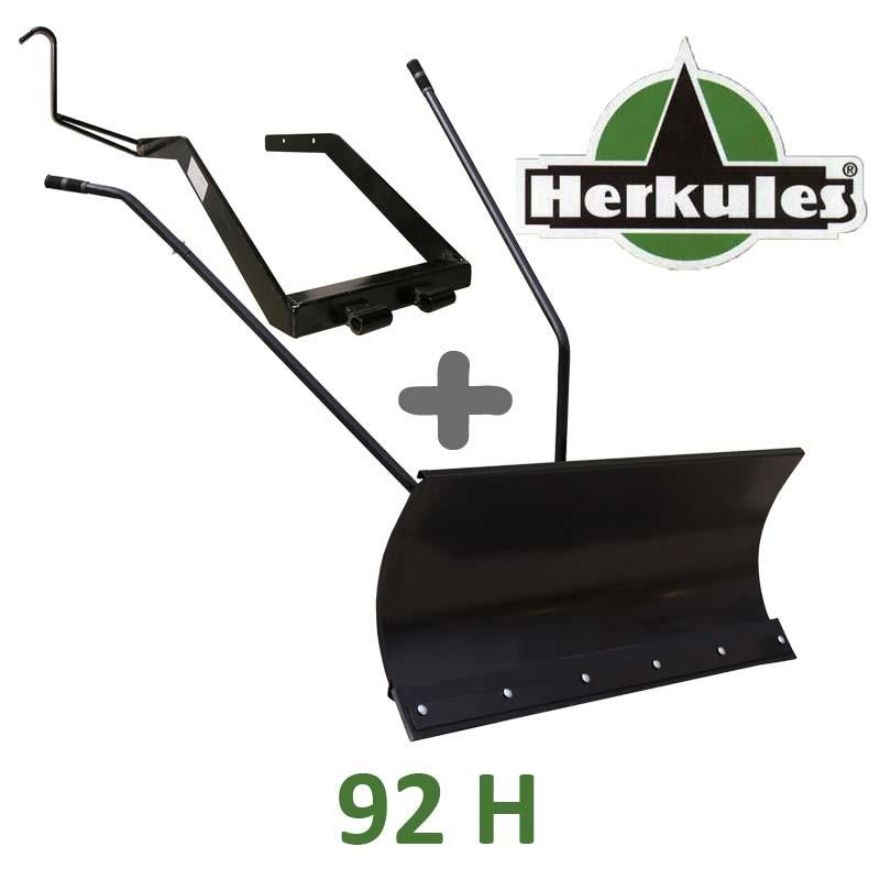 Lame à Neige 118 cm Noire + adaptateur pour Herkules 92 H