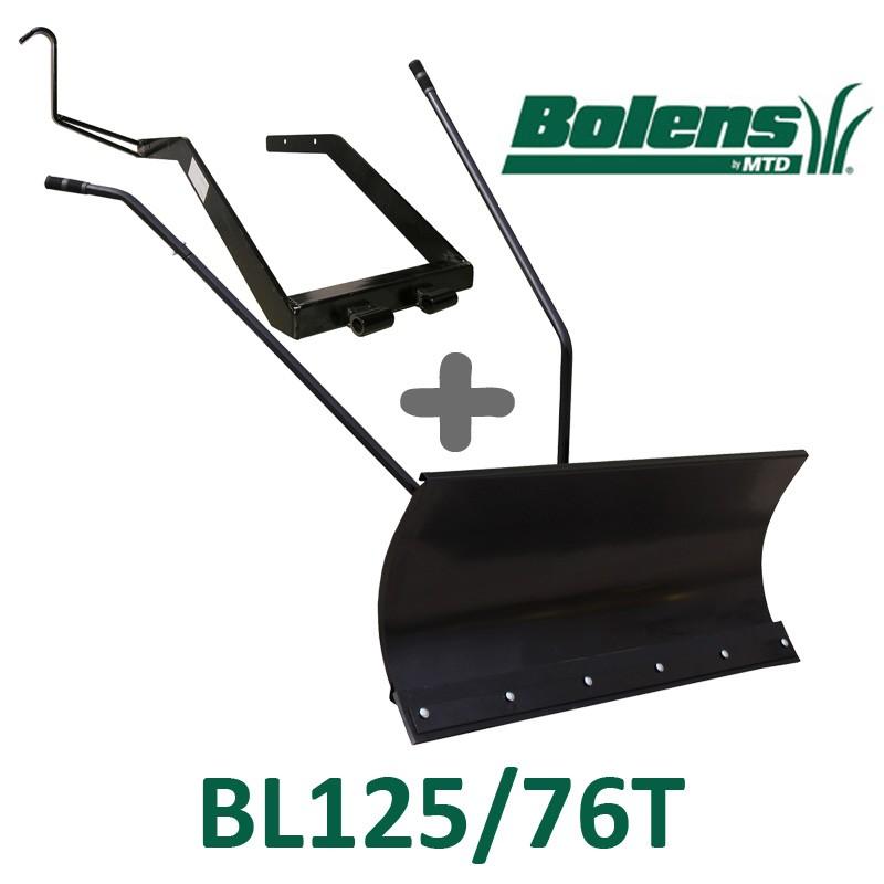 Lame à Neige 118 cm Noire + adaptateur pour Bolens BL125/76T