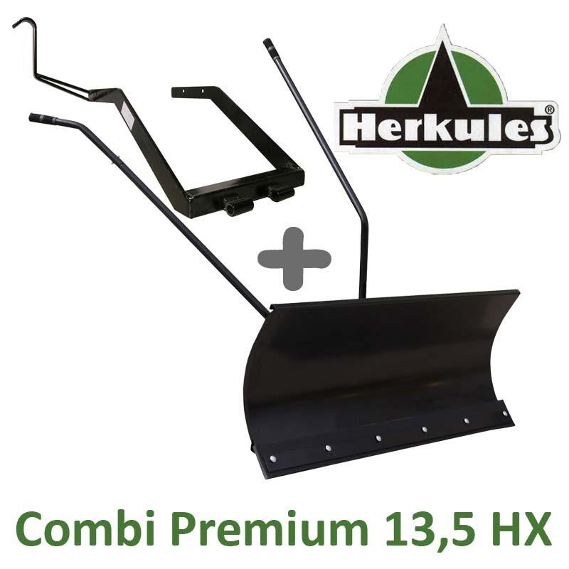Lame à Neige 118 cm Noire + adaptateur pour Herkules Combi - Premium 13,5 HX