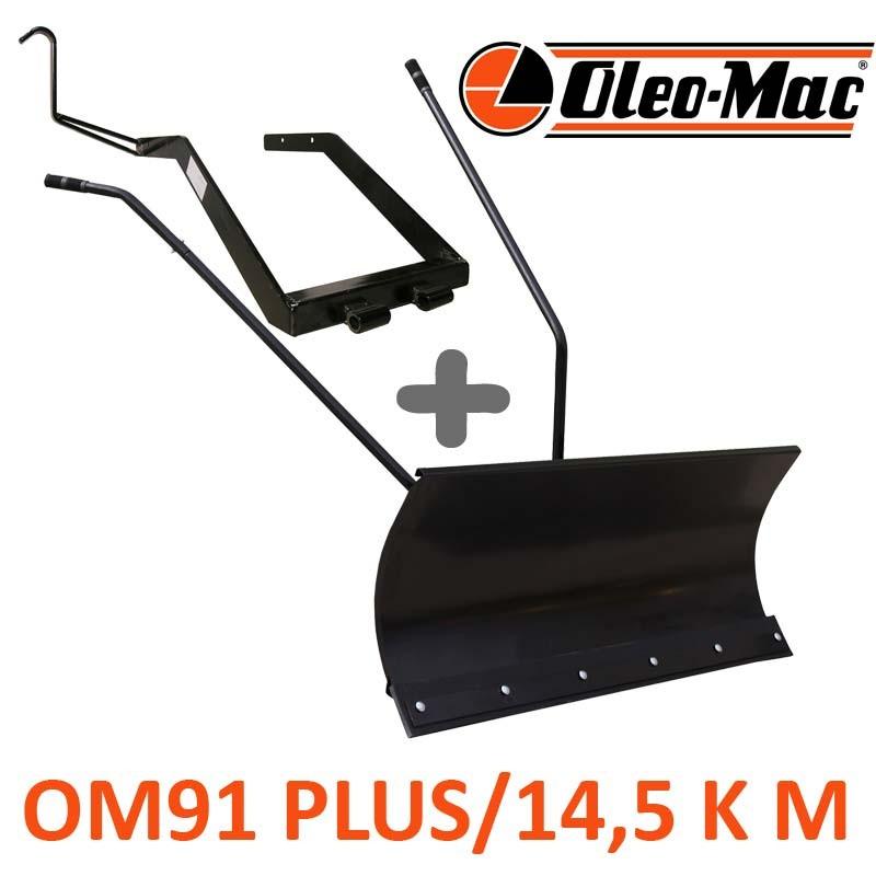 Lame à Neige 118 cm Noire + adaptateur pour Oleo-Mac OM 91 PLUS/14,5 K M