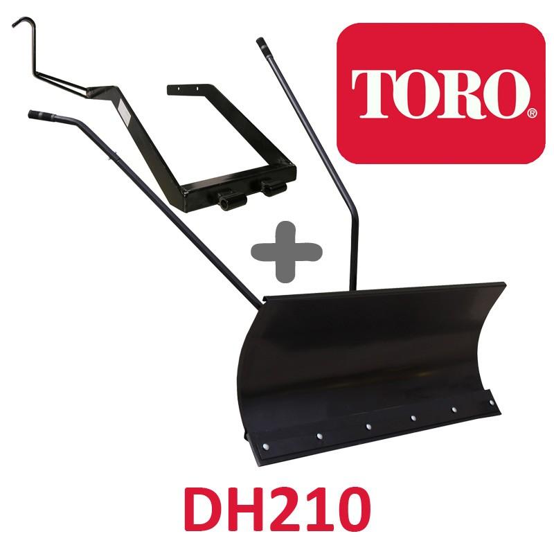 Lame à Neige 118 cm Noire + adaptateur pour Toro DH210