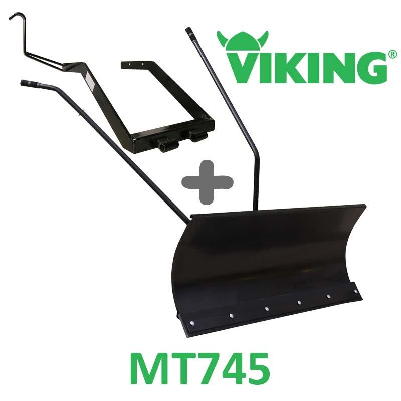 Lame à Neige 118 cm Noire + adaptateur pour Viking MT745