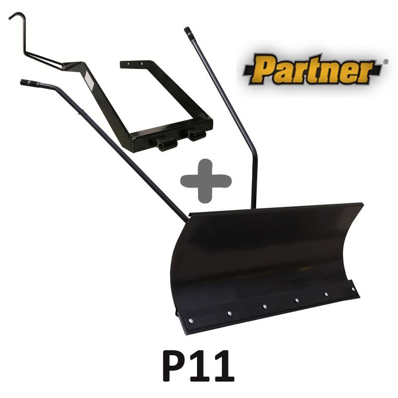 Lame à Neige 118 cm Noire + adaptateur pour Partner P11