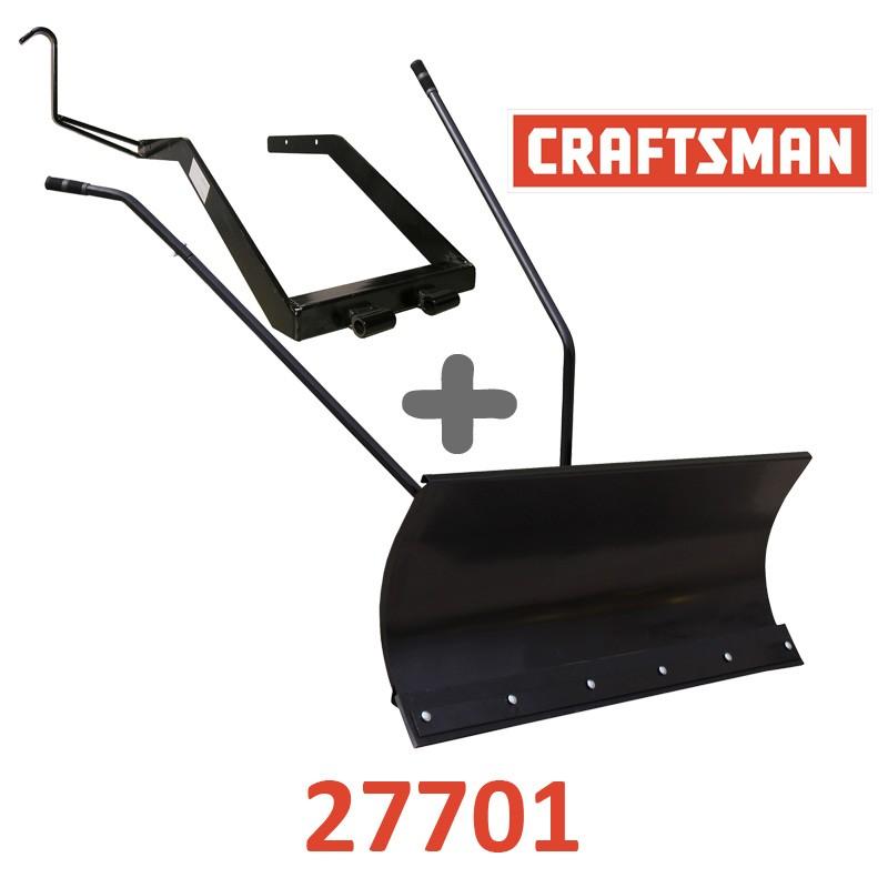 Lame à Neige 118 cm Noire + adaptateur pour Craftsman 27701