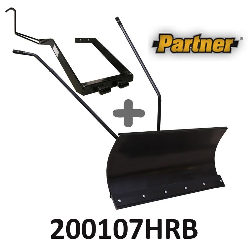 Lame à Neige 118 cm Noire + adaptateur pour Partner 200107HRB