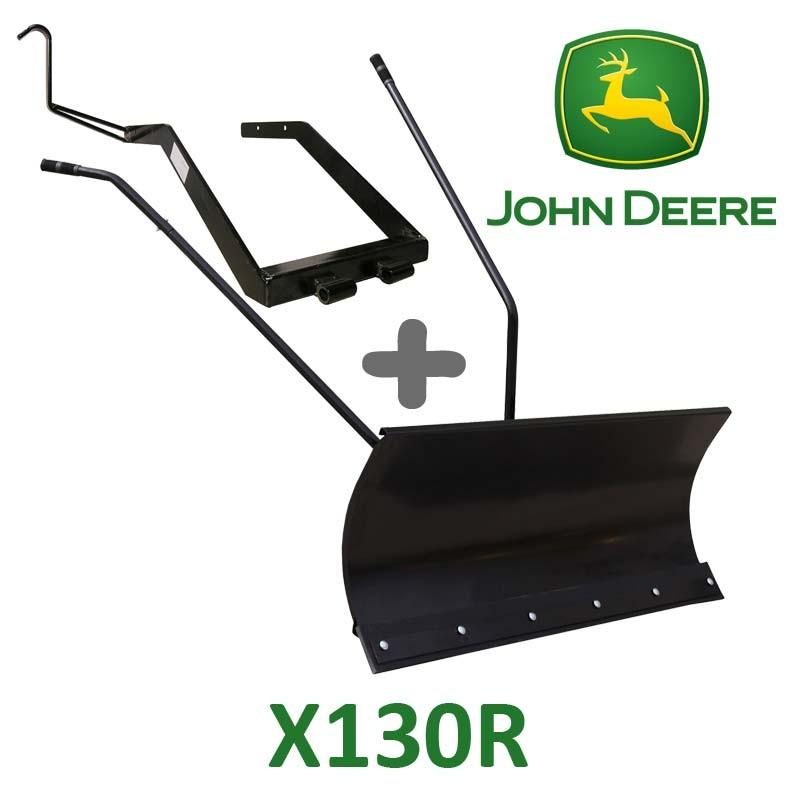 Lame à Neige 118 cm Noire + adaptateur pour John Deere X130R