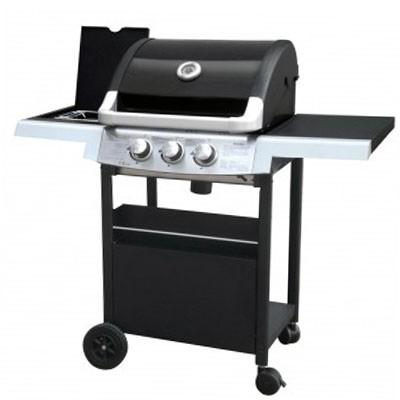 Barbecue à gaz 2+1 - Acier graffite noir et inox - GRILL EXPERIENCE