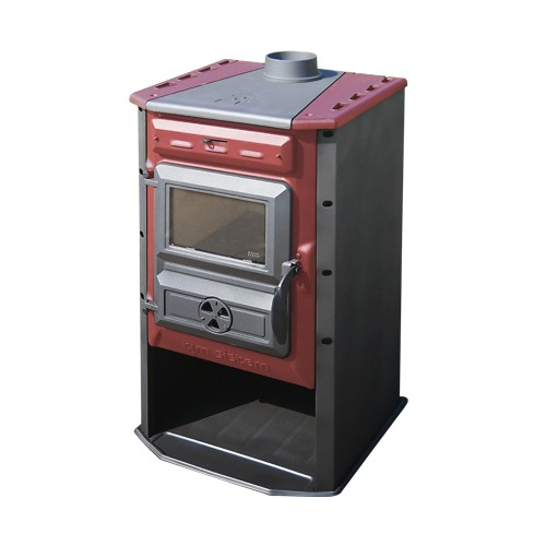 Poêle à bois 10 kW Magic Stove Rouge - Tim Sistem