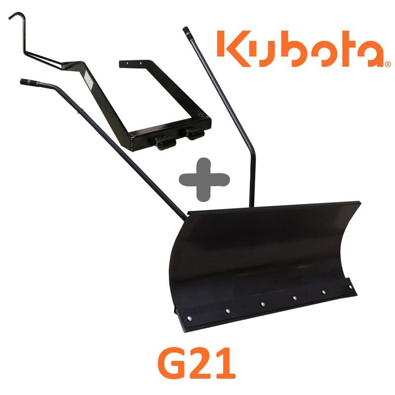 Lame à Neige 118 cm Noire + adaptateur pour Kubota G21
