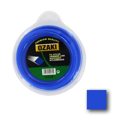Ozaki - Fil nylon carré bleu - Coque S