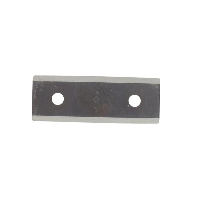Couteau de broyeur adaptable pour LESCHA modèles zak 1500, zak 2002 - L: 75mm, l: 27,5mm, Ø: trou: 7mm, entraxe : 45mm. Remplace origine: 53350