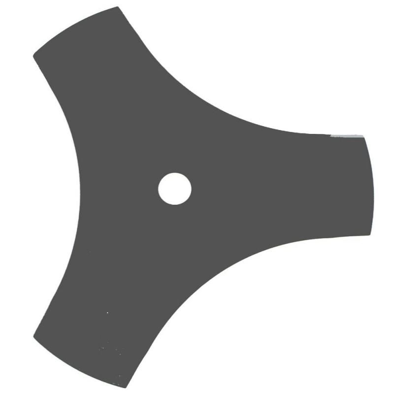 Lame 3 dents évidées universelle pour débroussailleuse - Coupe de 255mm, alésage: 25,4mm, épaisseur: 2mm