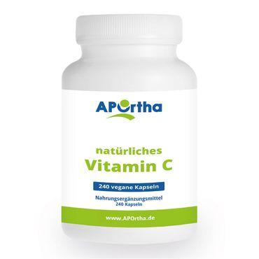 natürliches Vitamin C - 240 vegane Kapseln – Bild 1
