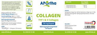 Collagen Typ I & II 750 mg - 120 Kapseln – Bild 2