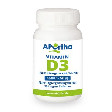 Vitamin D3 Depot 5.600 IE - 365 Tabletten - MHD 03/2019