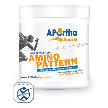 APOrtha Sports Amino Pattern - 420 vegane Tabletten – Bild 1